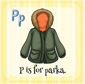 A letter P for parka