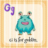 stock photo of goblin  - A letter G for goblin - JPG