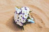 Wedding Bridal Bouquet On The Beach