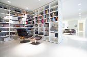 Library Inside Expensive, Modern Residence