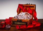 Treasure Chest With Diamonds