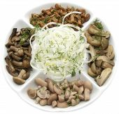 dish with mushrooms