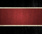 dark red rustic canvas banner textured with black wood background