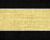 yellow and black burlap jute fabric textured background