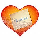lace heart card