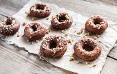 Donuts Sprinkled With Crushed Nuts