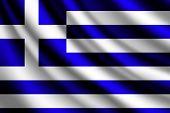 Waving flag of Greece, vector