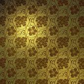Padrão de hibisco ouro abstrato