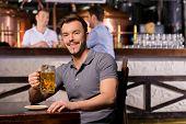 Man In Beer Pub.