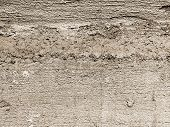 Concrete, Weathered, Worn. Landscape Style. Grungy Concrete Surface. Great Background Or Texture, Se