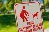 Clean Up After Pet Sign