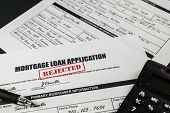 Mortgage Loan Application Rejected 006