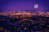 stock photo of arena  - Phoenix Arizona Skyline at Night - JPG