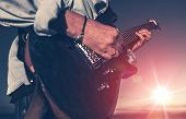 stock photo of guitarists  - The Guitarist - JPG