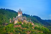 Panorama of Cochem in Germany, Europe