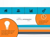 Creative infographic for your business presentation with different features icon on grey background.