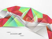 Abstract creative modern art design in multicolor for business purpose on grey background.