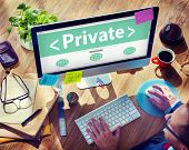 Digital Online Private Protection Office Working Concept