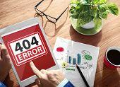 404 Error Warning Digital Device Wireless Browsing Concept