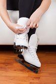 Skater wearing skates