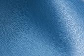 Blue Glossy Artificial Leather Background Texture Close-up