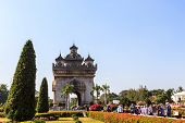 Patuxai Is A War Monument In The Centre Of Vientiane, Laos.