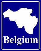 Silhouette Map Of Belgium