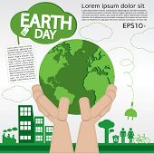 April 22nd Earth Day Illustration Conceptual.