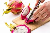 image of dragon fruit  - Close up of a cook - JPG