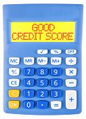 Calculator With Good Credit Score