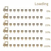 Train Preloaders And Progress Loading Bars