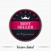Best seller guaranteed label with royal crown