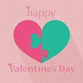 Happy Valentine's Day Heart Pattern