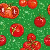 Seamless Vector Pattern With Tomatoes