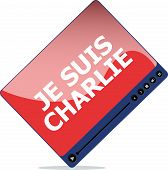 Je Suis Charlie Text On Media Player, Movement Against Terrorism