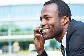 Businessman On The Phone.