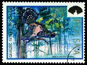 Vintage  Postage Stamp. Capercaillie.