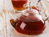 Healthy Hot  Tea On  Wooden Table