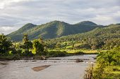 View on Pai river in Mae Khong Son province Thailand
