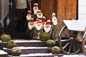 Christmas Dolls On A Street Of Vilnius