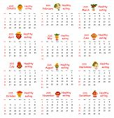 2015 Calendar.funny Portraits Made of Vegetables And Fruits.