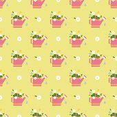vector flat flower vintages eamless  patterns
