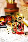 Mix Of Traditional Russian Souvenirs