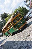 River street Streetcar in Savannah