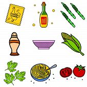 pic of celery  - Nine images of different foods  - JPG