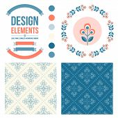 picture of scandinavian  - Set of design elements  - JPG