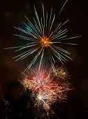 picture of firework display  - beautiful fireworks display at night - JPG