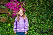 foto of rain  - Outdoor portrait of a cute little girl under the rain - JPG