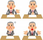 foto of counseling  - Businessman poses collection of such meetings and counseling - JPG