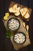 foto of cilantro  - Chilean Ceviche made of Southern Ray - JPG
